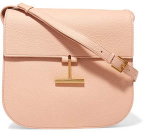 Tom Ford T Clasp Textured-leather Shoulder Bag - Blush