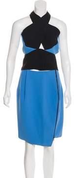 Dion Lee Bicolor Crepe Skirt Set