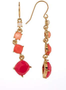 Carolee 12K Gold Linear Graduated Stone Earrings