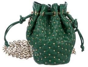 Zac Posen Studded Mini Bucket Bag