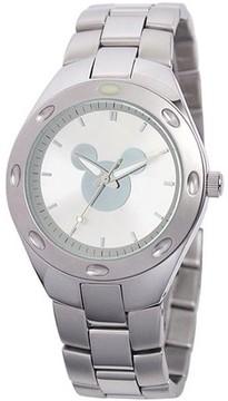 Disney Mickey Mouse Men's Fortaleza Stainless Steel Watch, Silver Bracelet