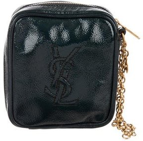 Saint Laurent Patent Leather Wristlet - GREEN - STYLE