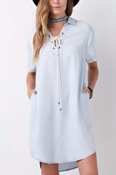 Easel Denim Shirt Dress