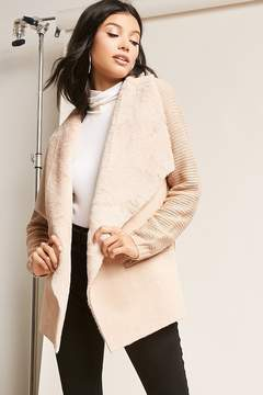 Forever 21 Faux Suede Foldover Jacket