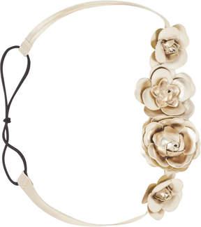 Scunci Headbands of Hope Gold Flower Headwrap