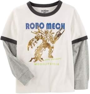 Osh Kosh Oshkosh Bgosh Boys 4-12 Robo Mech Ringer Tee