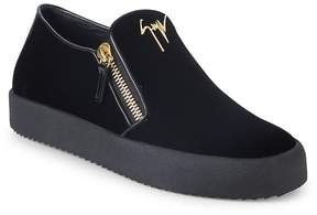 Giuseppe Zanotti Men's Zip Slip-On Sneakers