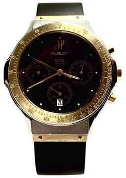 Hublot 18K Yellow Gold & Stainless Steel Quartz 37mm Mens Watch
