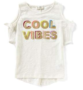 Jessica Simpson Big Girls 7-16 Cool Vibes Cold-Shoulder Tee