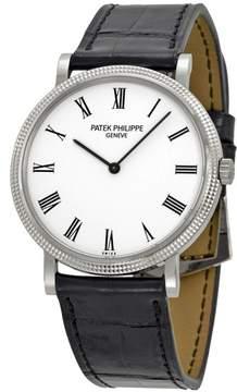 Patek Philippe Calatrava 5120G-001 18K White Gold & Leather 35mm Watch