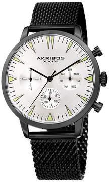 Akribos XXIV Mens Black Strap Watch-A-1027bk
