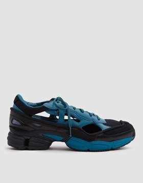 Raf Simons Adidas X RS Replicant Ozweego Sneaker in Black/Colonial Blue