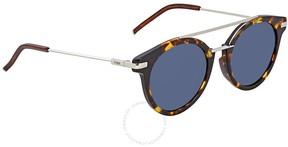 Fendi Blue Round Sunglasses FF 0225/S 9G0/KU