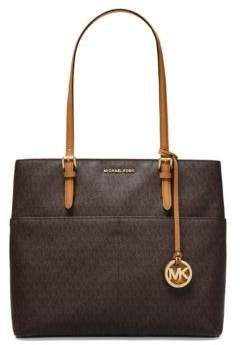Michael Kors Van Leather Tote - BROWN - STYLE