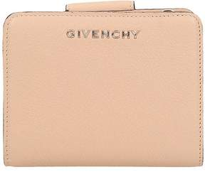 Givenchy Compact Pandora Wallet In Nude Leather