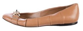 Bally Leather Round-Toe Flats