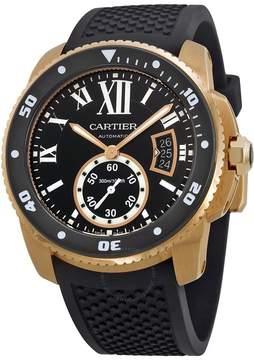 Cartier Calibre de Diver Automatic Black Dial Rubber Men's Watch