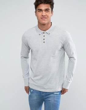 Brave Soul Long Sleeve Pique Polo Shirt
