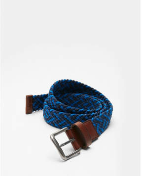Express blue web stretch belt