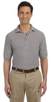 Blend of America Harriton 5.6 oz. Easy Polo with Pocket M265P