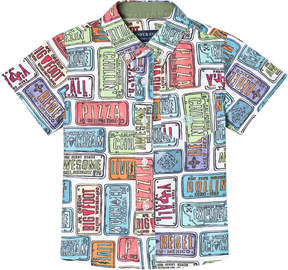 Andy & Evan Multicoloured License Plate Print Shirt
