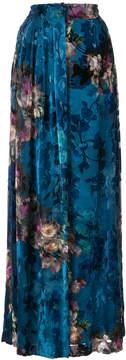 Alberta Ferretti long floral skirt