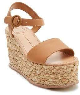 Dolce Vita Dane Leather Wedge Espadrilles