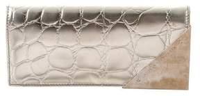 Alexander McQueen Metallic Embossed Wallet