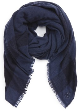 Tory Burch Women's Check Wool & Cashmere Scarf