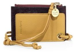 See by Chloe Leather & Calf Hair Card Holder