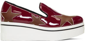 Stella McCartney Red Star Binx Platform Slip-On Sneakers