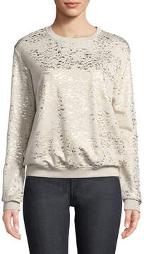 Neiman Marcus Majestic Paris for Metallic-Speckled Sweatshirt