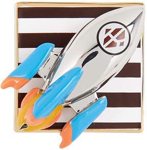 Henri Bendel Rocket Ship Bag And Scarf Charm And Pin