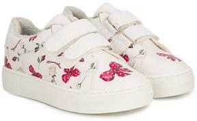 MonnaLisa bow print sneakers