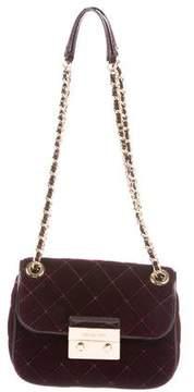 MICHAEL Michael Kors Small Quilted Velvet Sloan Bag