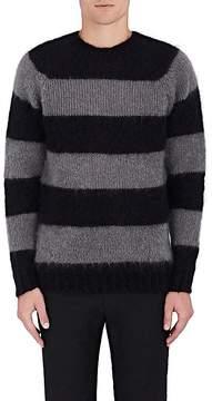 Officine Generale Men's Striped Mohair-Blend Sweater
