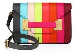 Sophie Hulme Mini Milner Rainbow Leather Crossbody Bag
