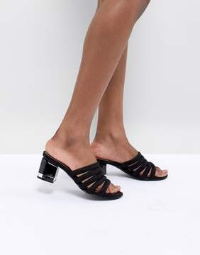 Call it SPRING Etoclya Black Heeled Mules