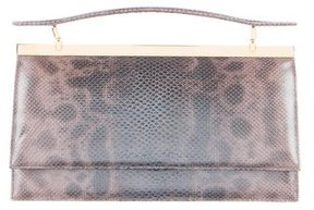 Judith Leiber Metallic Karung Handle Bag