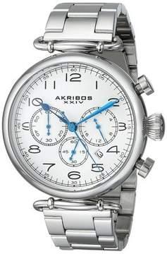 Akribos XXIV Akribos Grandiose Silver Dial Chronograph Men's Watch