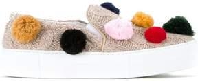 Joshua Sanders knitted pom pom sneakers