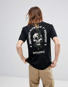 DC T-Shirt With Skull Back Print