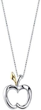 Disney Two-Tone 10K Gold and Silver My Prince Will Come Pendant Necklace