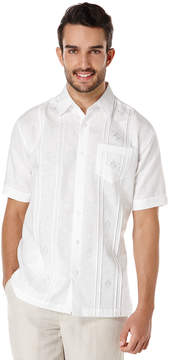 Cubavera Short Sleeve Tucks and Ombre Embroidered Shirt