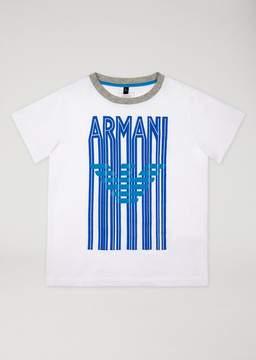 Armani Junior T-Shirt With Maxi Logo Print
