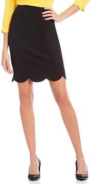 Isaac Mizrahi Imnyc IMNYC Scallop Edge Pencil Skirt