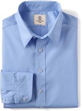 Lands' End Lands'end School Uniform Little Boys LS Broadcloth Perfect Shirt