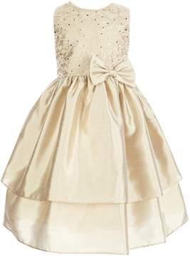 Jayne Copeland Little Girls 2T-6X Lace Bow-Applique Dress
