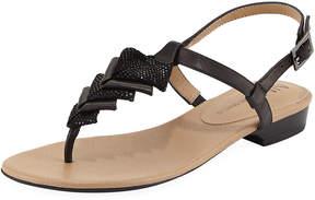 Neiman Marcus Yerik Glitter Sandal, Black