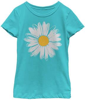 Fifth Sun Tahiti Blue & Yellow Daisy Crewneck Tee - Girls